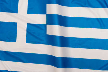 greece flag: Close up of Greek Flag
