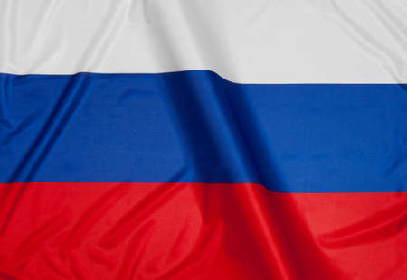 russia flag: Close up of flag of Russia