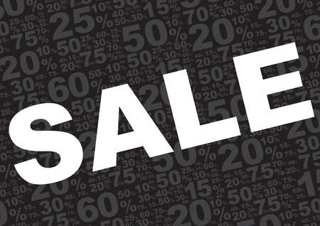 percentage sign: Sale Background - Sale Sign With Various Percentage Signs on Black Background