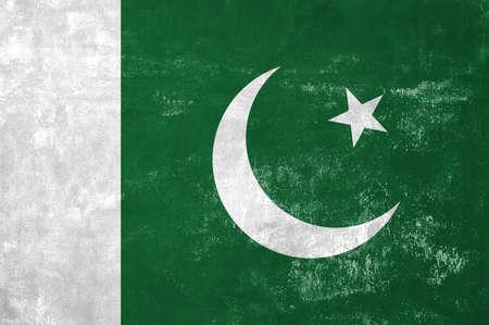 Pakistan - Pakistani Flag on Old Grunge Texture Background