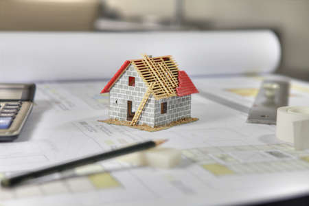 achitectural: planning a new home Stock Photo
