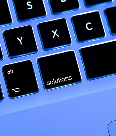 keyboard layout with solution key  button {super high resolutionshot with PhaseOne P45} photo