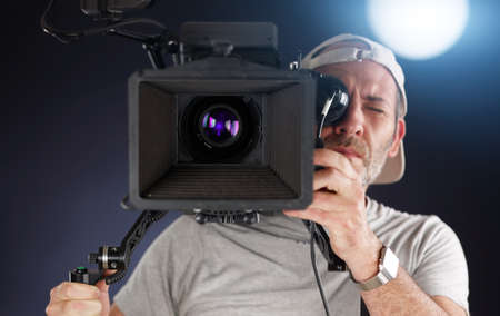 cameraman working with a cinema camera Stock Photo - 19983441