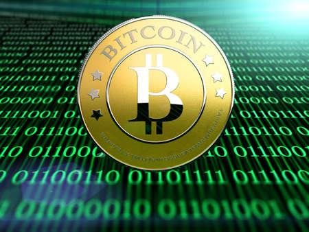 a bitcoin - the new virtual money 免版税图像
