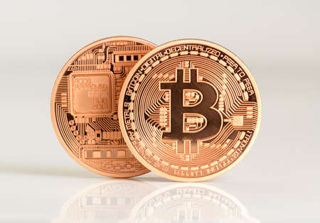 currency: lots of bitcoins - bit coin BTC the new virtual money