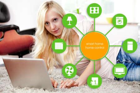 smart house device illustration with app icons Reklamní fotografie