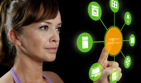 smart house device illustration with app icons photo