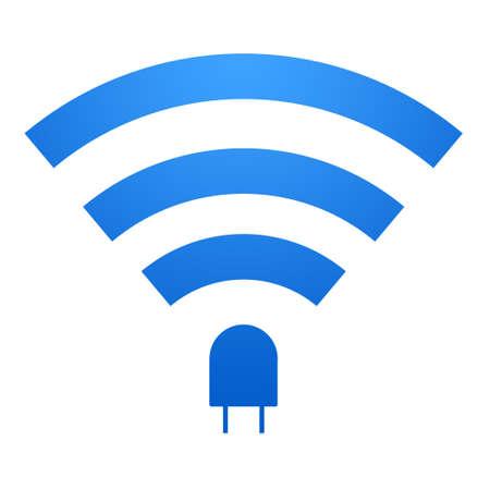 li: Li-Fi icon design. Li-Fi zone sign. isolated on white black background. Stock Photo