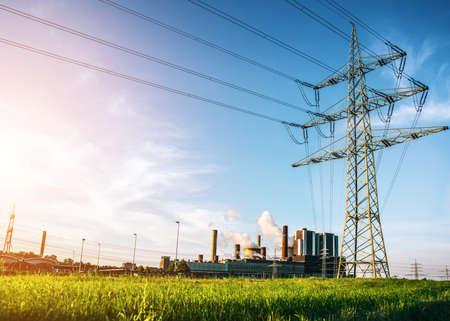 industry moody: powerplant Stock Photo