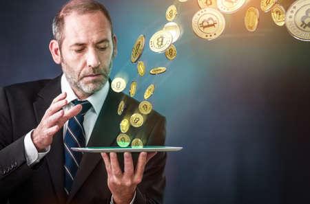 net trade: lots of bitcoins - bit coin BTC the new virtual money