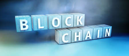 decoding: Blockchain security computer encryption concept for online banking and secure payment technology Stock Photo