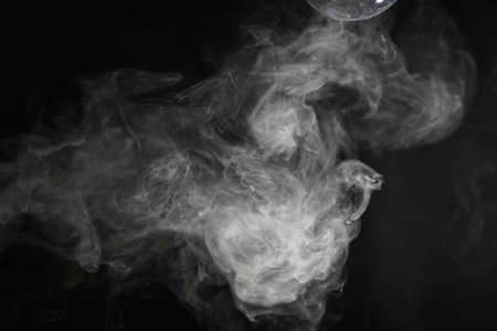 abstract fire: Smoke on black background Stock Photo