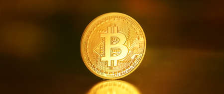bitcoins - bit coin BTC the new virtual money Stock Photo