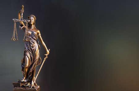 정의의 동상 - 여자 정의 또는 Iustitia  Justitia 정의의 로마 여신