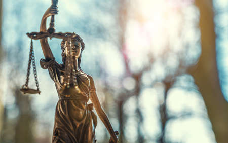 The Statue of Justice - Lady Justice or Iustitia, Justitia the Roman goddess of Justice