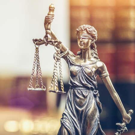 La statue de justice - lady justice & quot ; iustitia & quot ; ou iustitia la justice romaine de la justice Banque d'images - 88655281