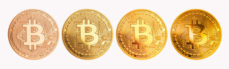 bitcoin - bit coin BTC the new crypto currency on white