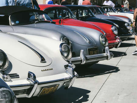LOS ANGELES CA APRIL Porsche Classic Cars At Aircooled - Car show los angeles ca