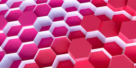 technology hexagon pattern background - 3d rendering