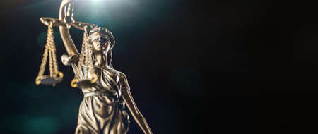 The Statue of Justice - lady justice or Iustitia  Justitia the Roman goddess of Justice Zdjęcie Seryjne