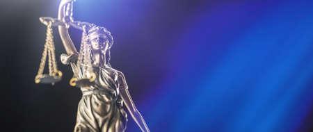 La statue de la justice - Dame justice ou Iustitia / Justitia la déesse romaine de la justice