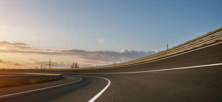 Race Car / motorcycle racetrack after rain on a sunny day. Fast motion blur effect. Ready to race Stock fotó