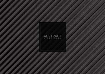 Abstract gray stripe pattern diagonal on black background and texture. Vector illustration