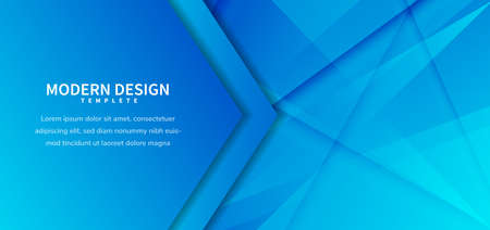 Abstract template dark blue geometric overlapping background with golden line. Luxury style. Vector illustration Standard-Bild - 167141727
