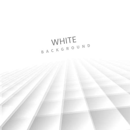 Abstract geometric square pattern background with white shapes perspective can be used in cover design poster website flyer. Vector illustration