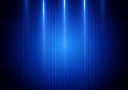 Abstract blue light vertical on blue background. Technology concept. Vector illustration