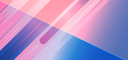Abstract pink blue gradient diagonal geometric overlapping background. Modern concept. Vector illustration