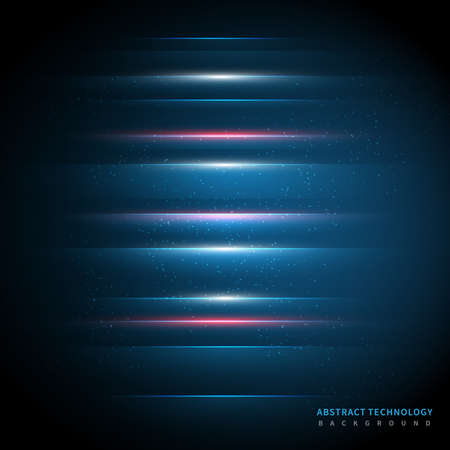 Abstract technology geometric overlapping hi speed line movement design background with copy space for text. Vector illustration