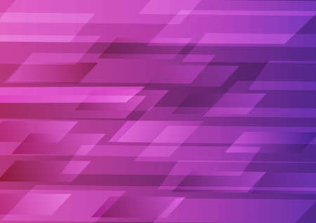 Abstract technology speed horizontal geometric on pink background. Vector illustration