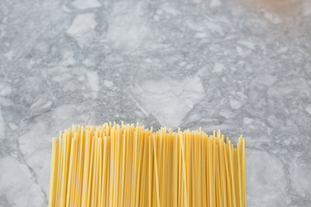 Italian food. Spaghetti pasta on light background with copy space for text 版權商用圖片