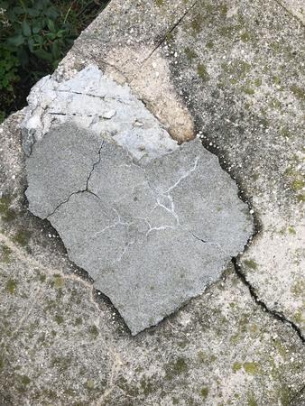 Rustic cobblestone stepping stone heart pavement