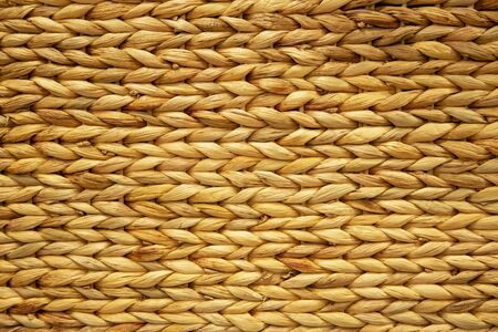 Close up textile texture of Hyacinth  or Rattan basket. Imagens