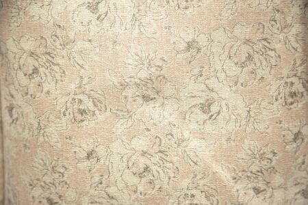 Close up textile texture of floral print cloth.