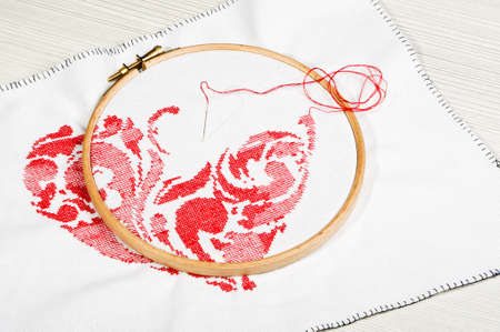 Cross-stitching process