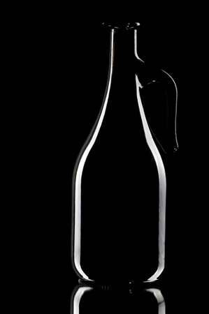 decanter: Decanter on the black background