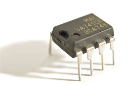 capacitor: Integrated circuit Stock Photo