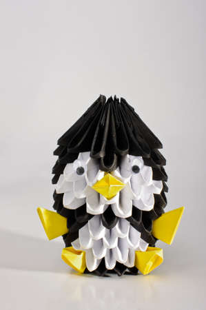 3d Origami Penguin Vertical Stock Photo Picture And Royalty Free