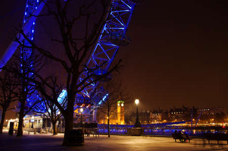riverside county: London Eye at night