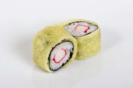 Baked maki crab rolls photo