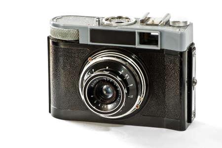 photocamera: Old film photocamera Stock Photo