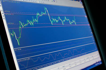 stock predictions: Trading Archivio Fotografico
