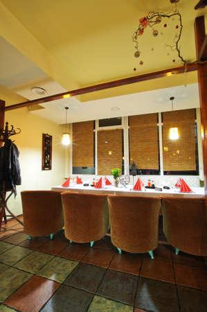 Chinese restaurant interior vertical Stock Photo - 24186322