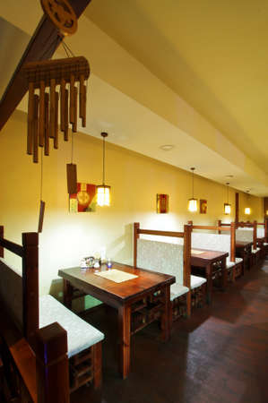 Chinese restaurant interior vertical