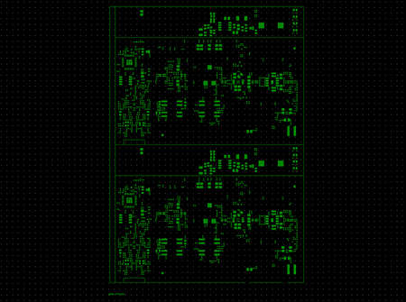 Printed circuit board top paste layer Stock Photo