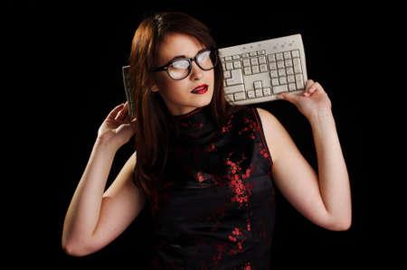 Sexy hacker Banco de Imagens