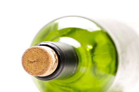 Empty wine bottle close-up photo